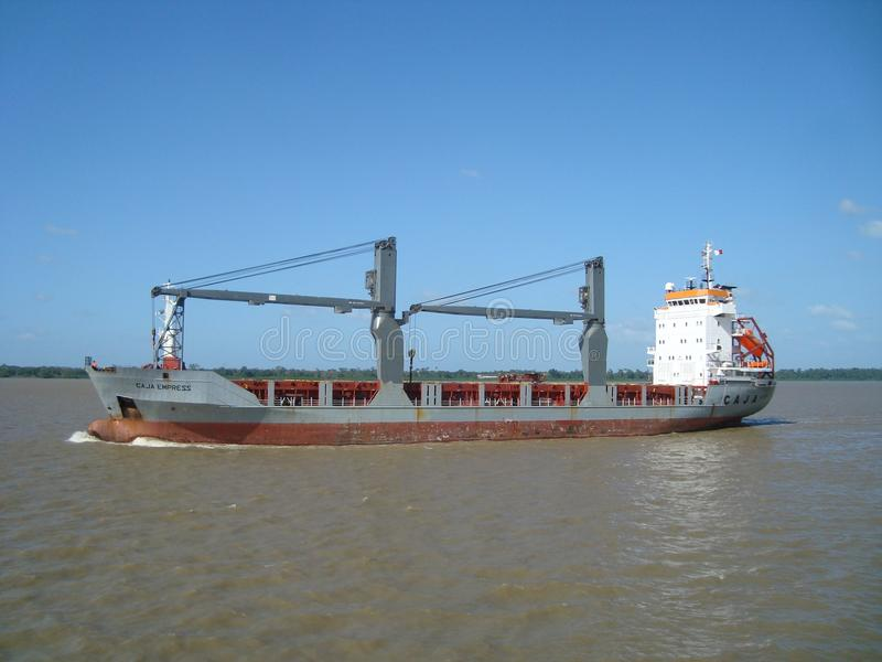 Water Transportation, Container Ship, Ship, Waterway royalty free stock images