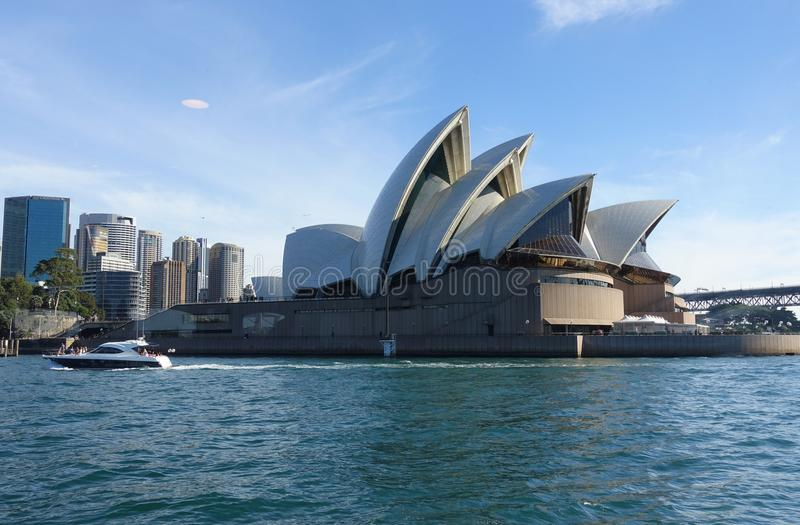 Water Transportation, Opera House, Yacht, Passenger Ship royalty free stock image