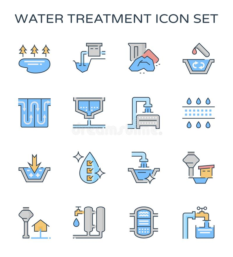Water treatment icon royalty free illustration