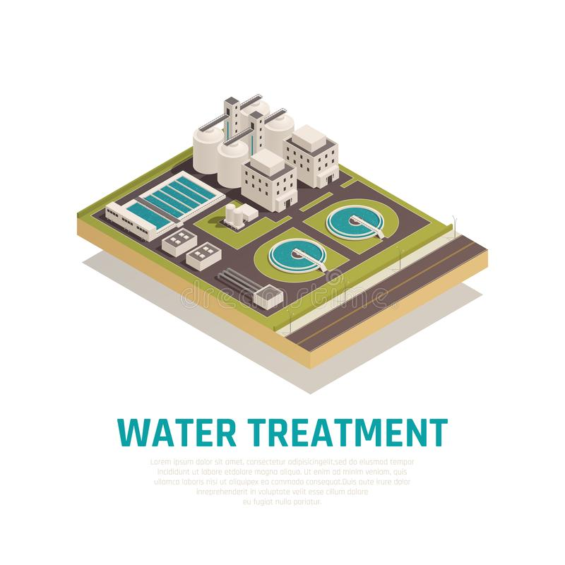 Water Treatment Isometric Composition vector illustration