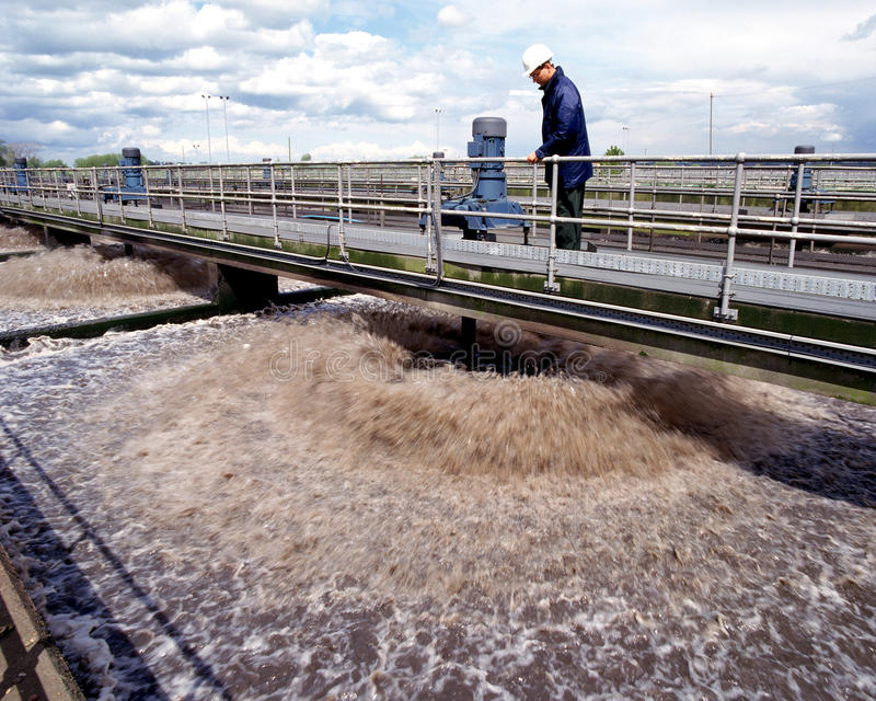 Water Treatment - Sewage Treatment Plant stock images