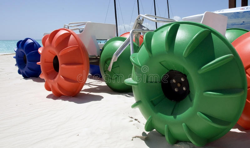 Water Tricycles stock photography