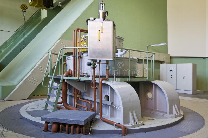 Download Water-turbine generator stock photo. Image of blue, hydro - 23783196