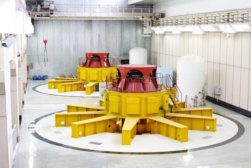Water turbine generators royalty free stock photos