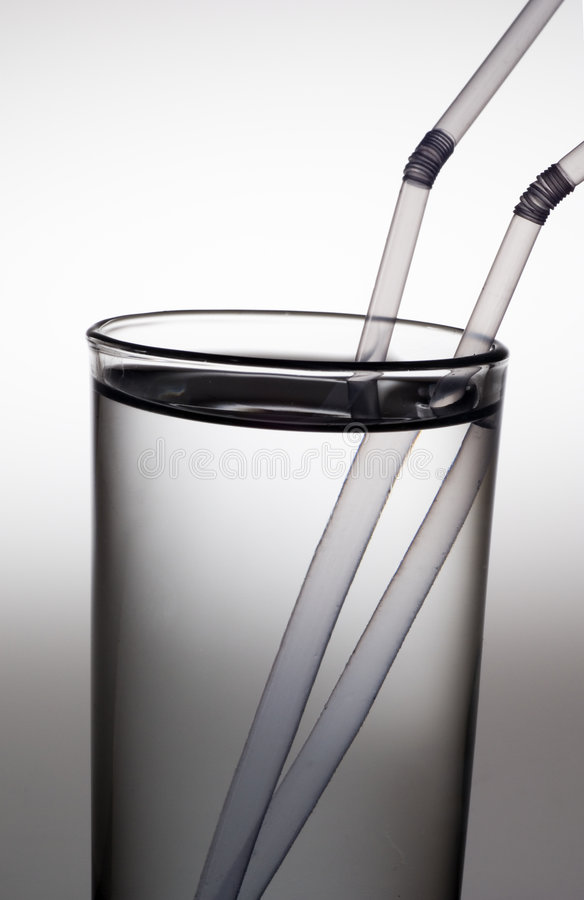 Water and two straws