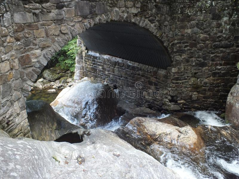 Water under bridge stock photos