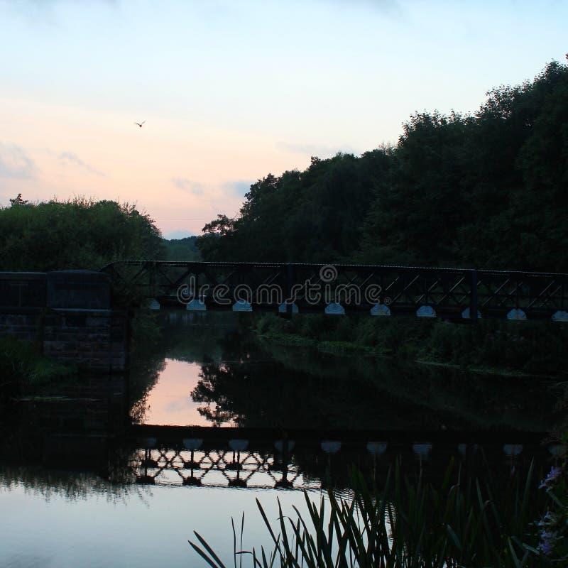 Water under the bridge stock photography
