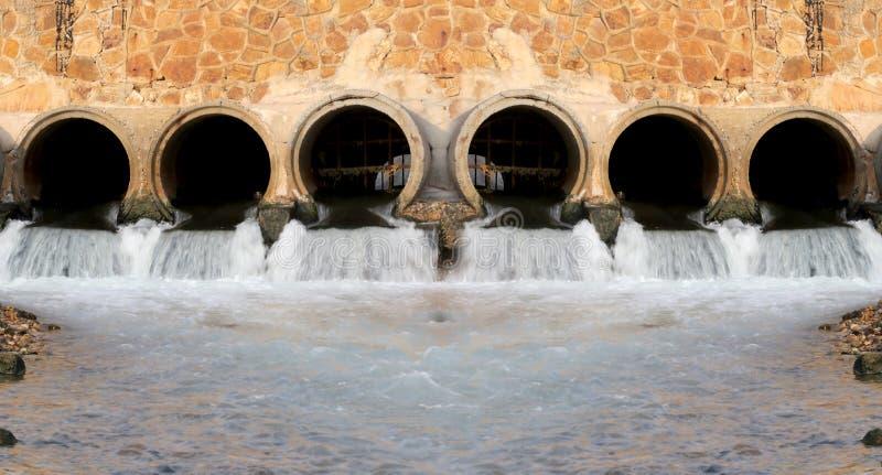 Water van afvoerkanalen stock afbeelding