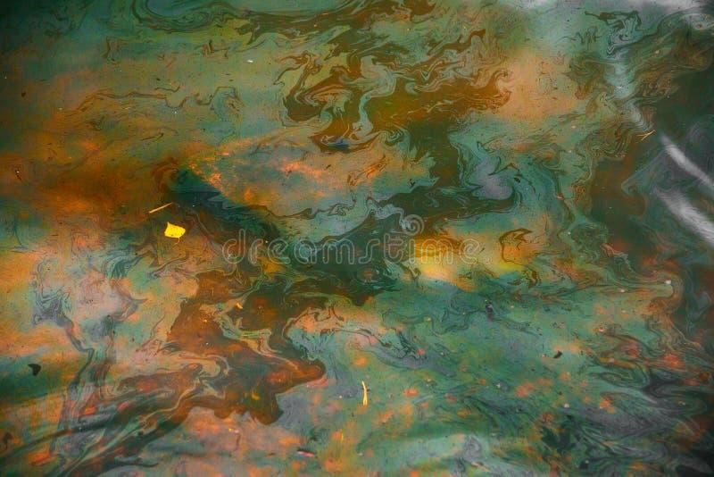 Water van gele en groene kleur royalty-vrije stock foto's
