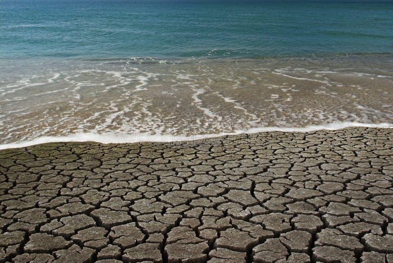 Water VERSUS Woestijn royalty-vrije stock foto's