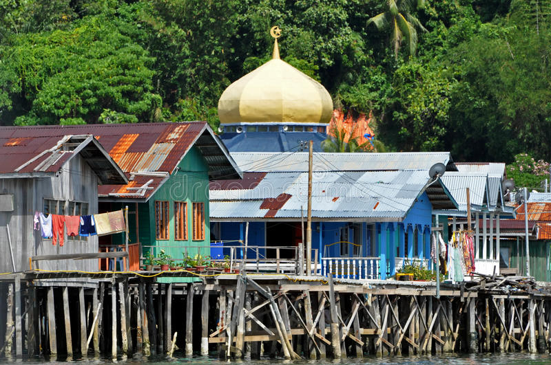 Download Water Village in Brunei stock photo. Image of color, forest - 15414532