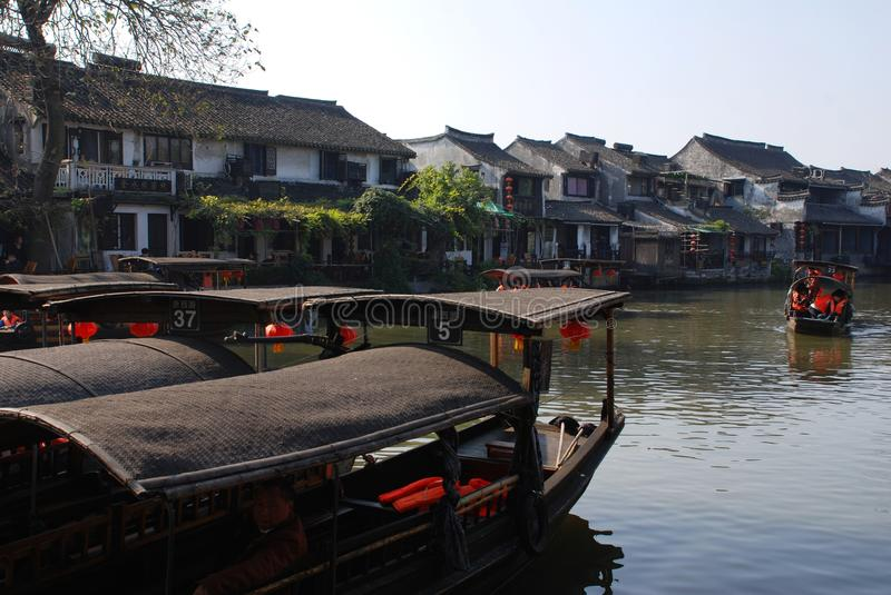 Water Village-Xitang ancient town. Xitang, an old town in Zhejiang province of China is renowned for many bridges, Lanes and covered corridors. It has numerous royalty free stock image