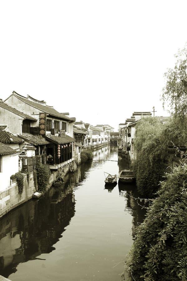 Water Village.xitang stock image