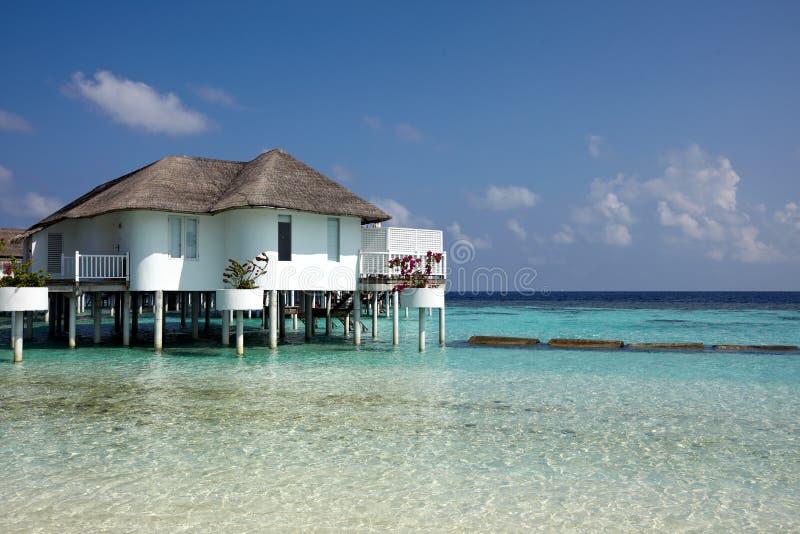 Water villas stock photography