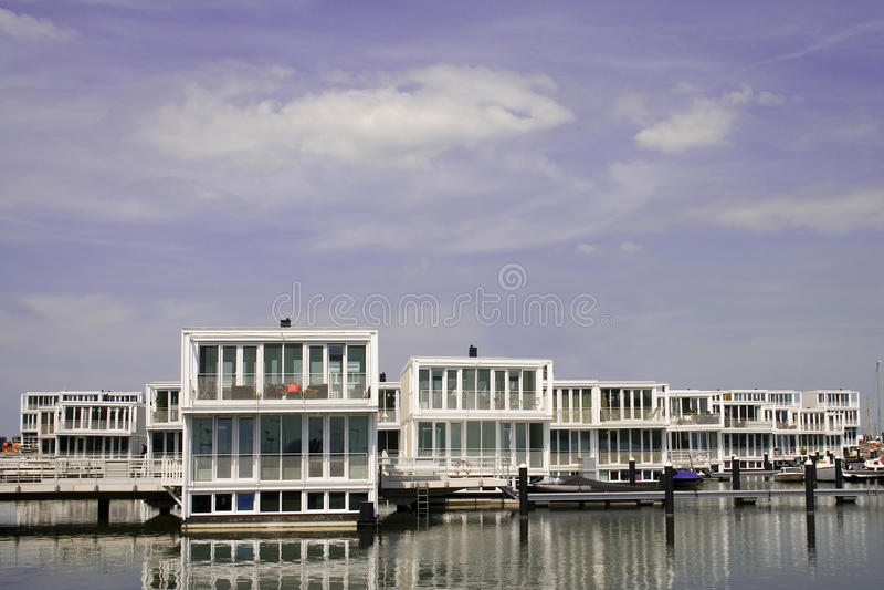 Water villas stock image