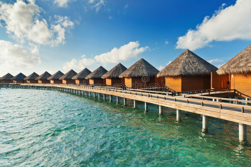Water villas stock photography