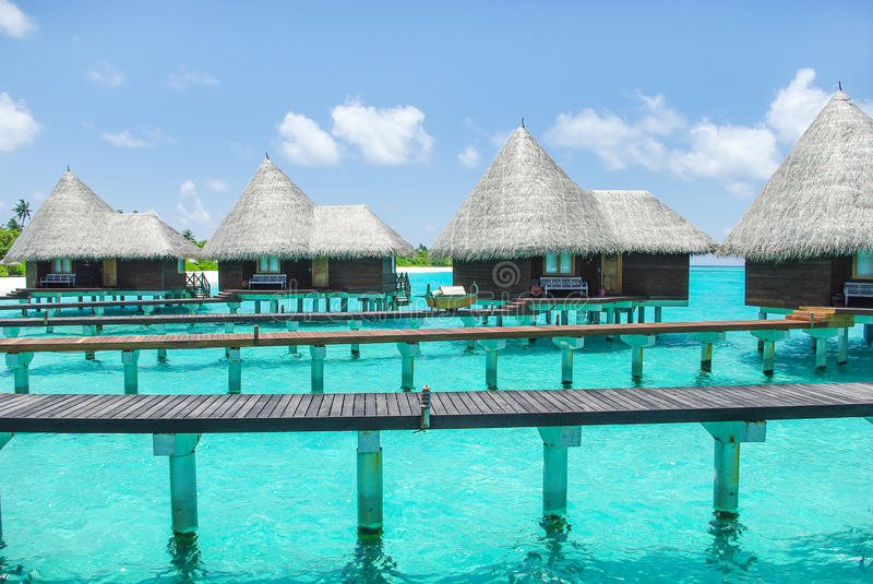 Water Villas On Tropical Island On Maldives Stock Photo Image Of Ocean Nature 28562128