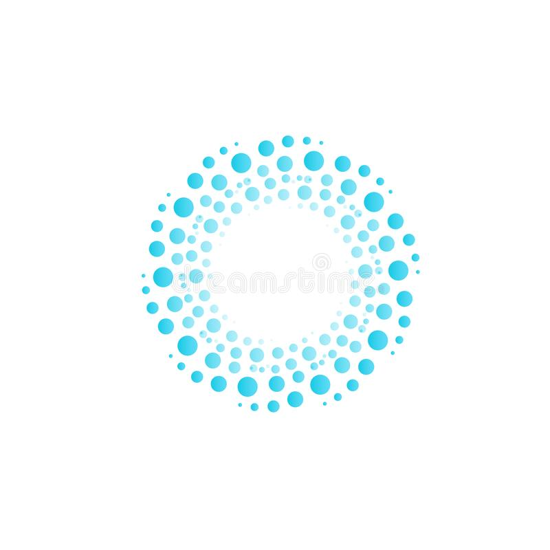Free Water Vortex From Blue Circles, Bubbles, Drops. Abstract Circle Vector Logo. Stock Images - 117319664