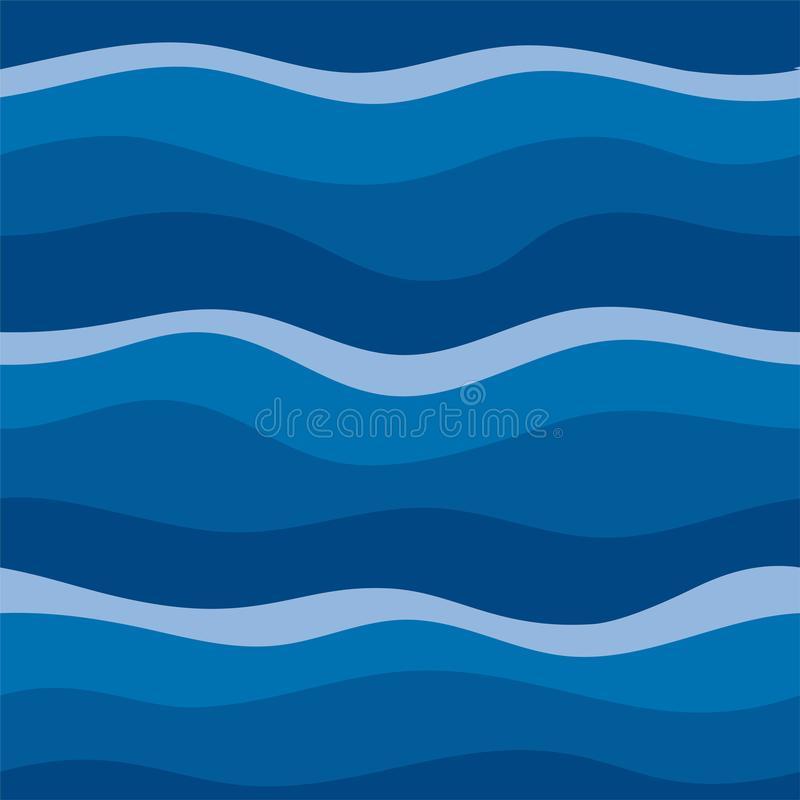 Water Wave abstract design. royalty free illustration