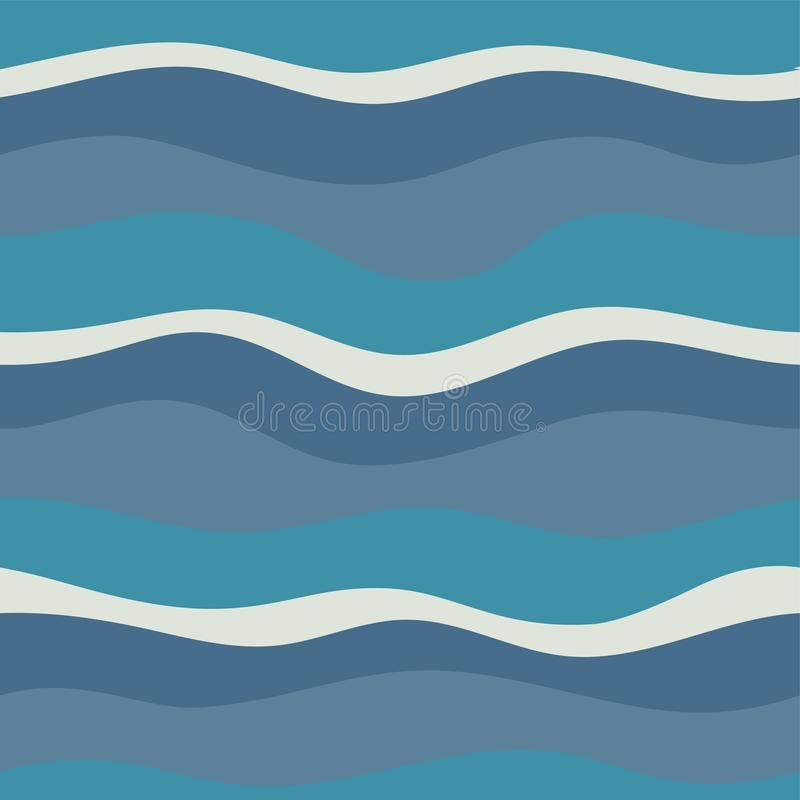 Water Wave abstract design. stock illustration