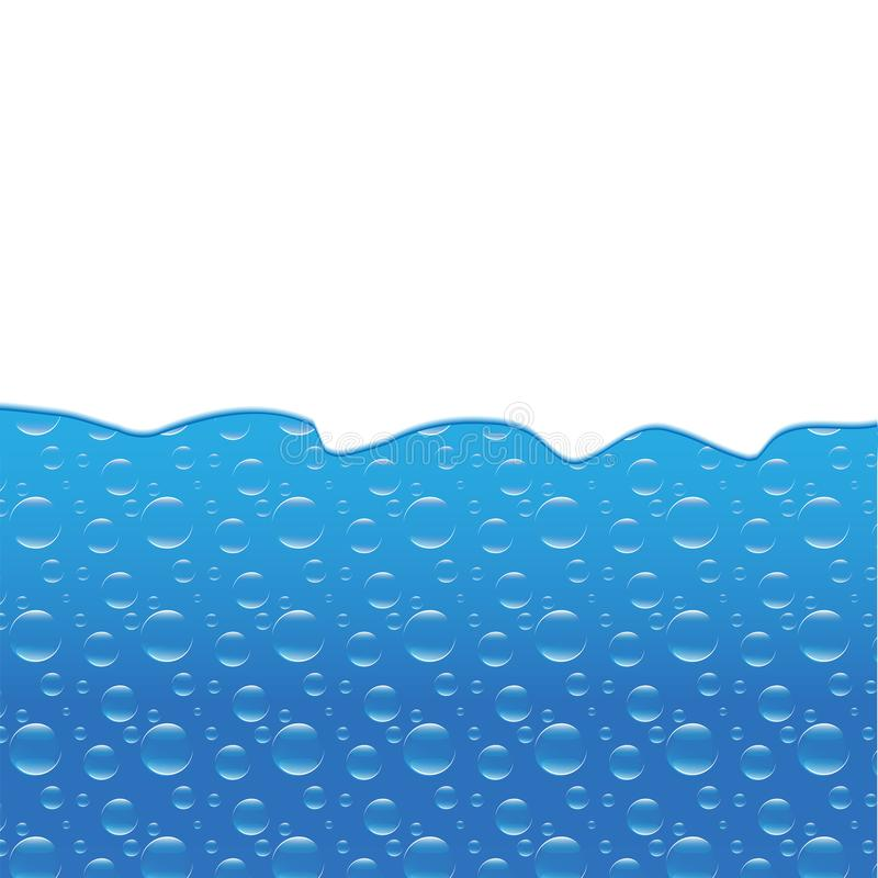 Water wave and bubbles template banner. Vector EPS 10 royalty free illustration