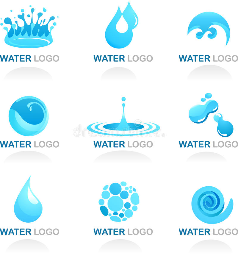 Water and Wave Design Element royalty free illustration