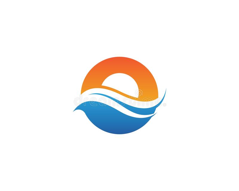 Water Wave Icon Logo Template. Water Wave Icon Logo Template, abstract, aqua, bio, home, business, clean, clear, concept, corporate, creative, design, drop stock illustration