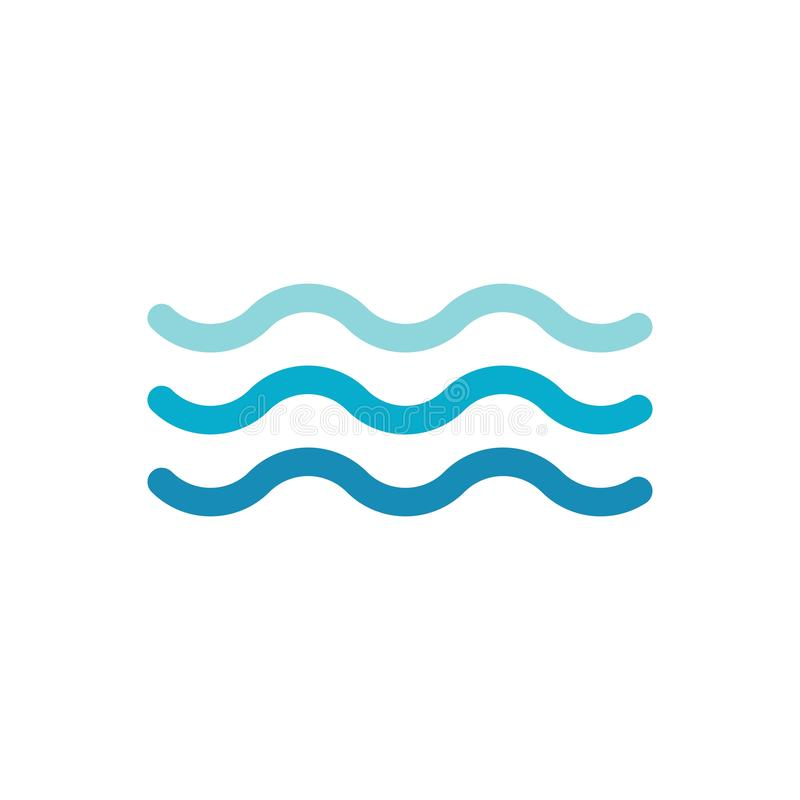 Water wave icon vector vector illustration