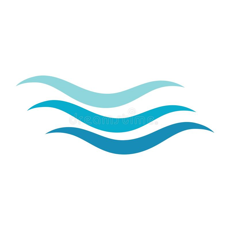 Water wave icon vector stock illustration