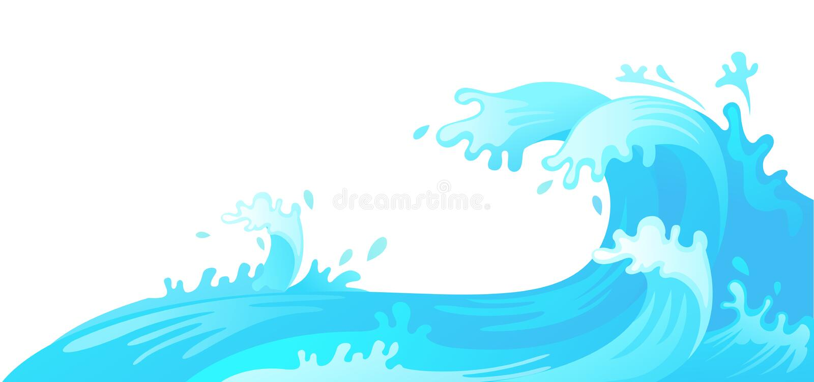 Water wave. Illustration of water wave vector illustration