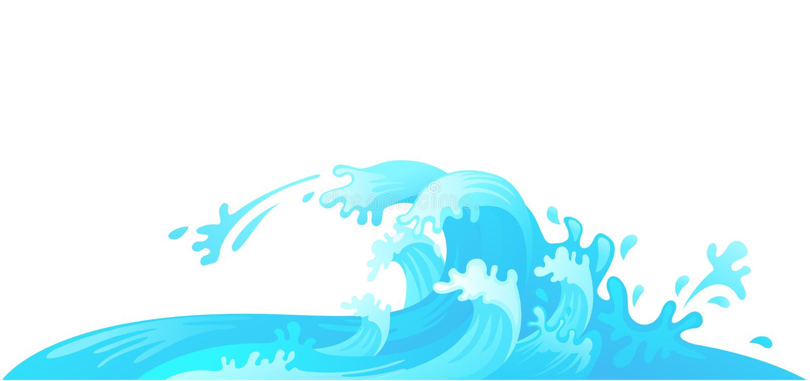 Water wave. Illustration of water wave vector stock illustration