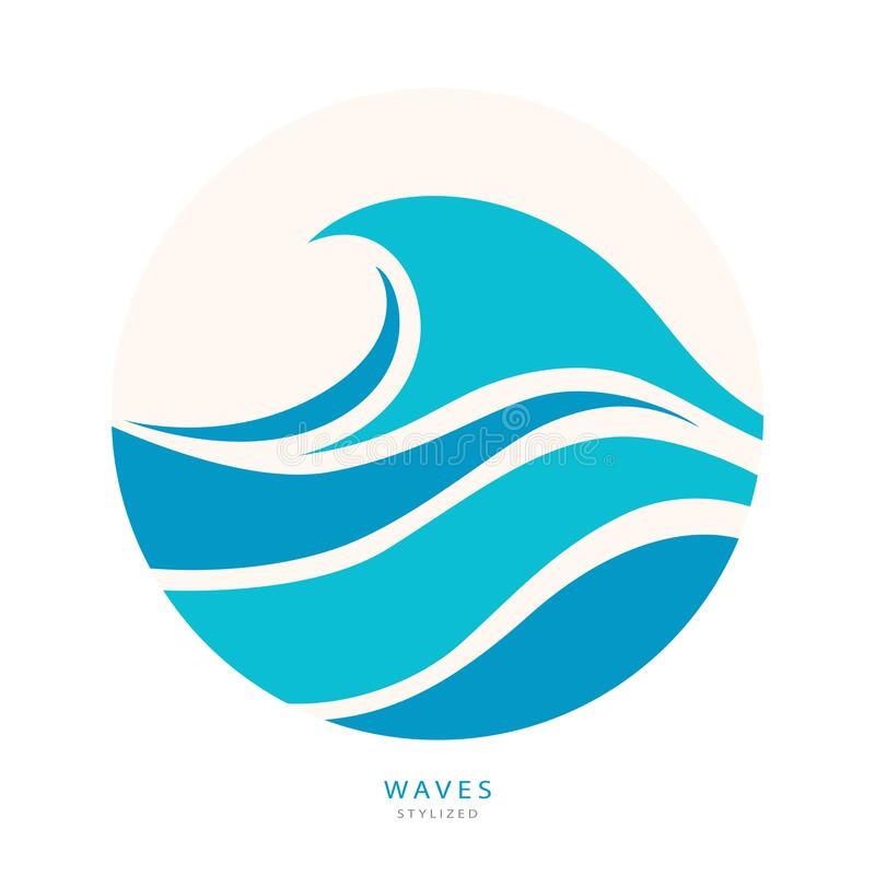 Free Water Wave Logo Abstract Design. Cosmetics Surf Sport Royalty Free Stock Images - 193207589