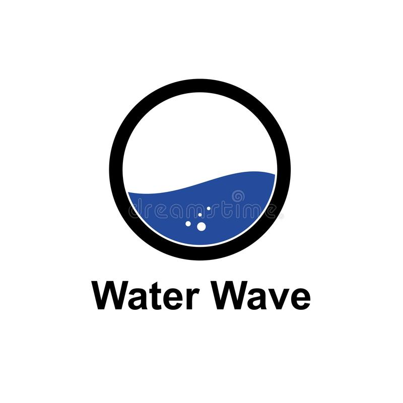 Water wave logo template, design vector icon illustration. Symbol, concept, brand, business, abstract, blue, isolated, drop, aqua, background, white, nature vector illustration