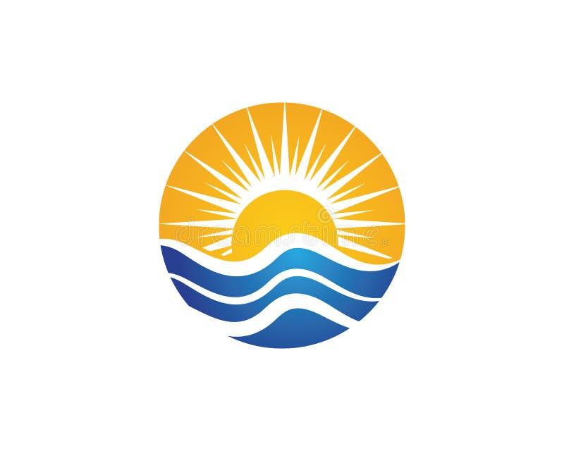 Water wave Logo Template. Illustration design stock illustration