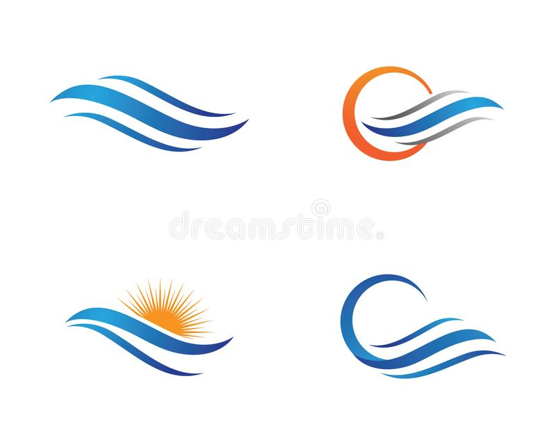 Water Wave Logo Template. Water Wave symbol and icon Logo Template vector royalty free illustration