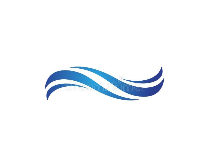 Water wave Logo Template. Vector illustration design royalty free illustration