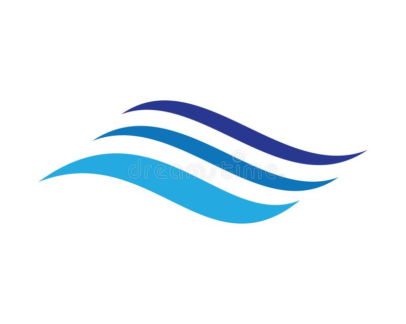Water Wave logo. Water Wave symbol and icon Logo Template vector stock illustration