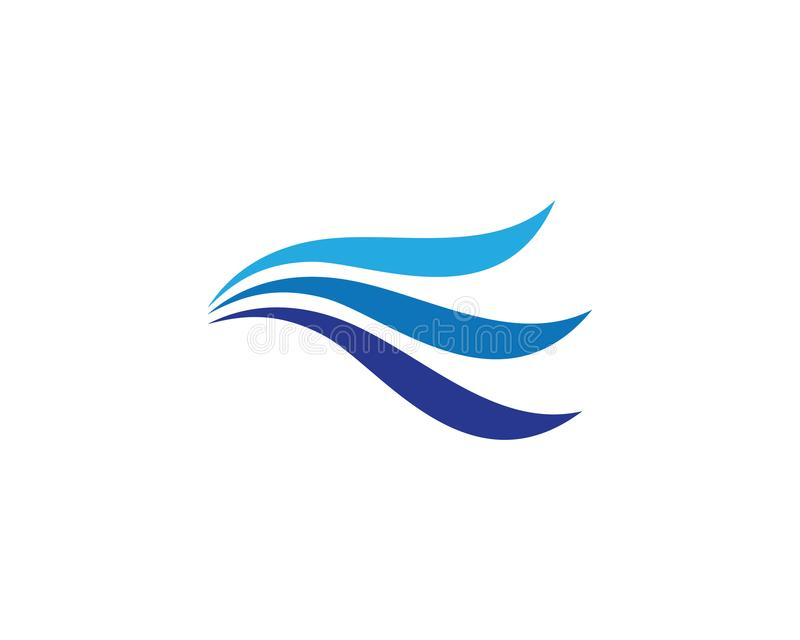 Water Wave logo. Water Wave symbol and icon Logo Template vector vector illustration