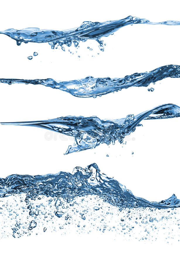 Water wave set stock images