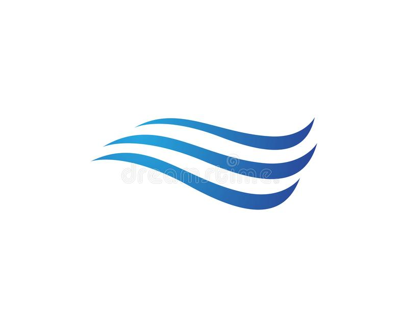 Water wave Logo Template. Water Wave symbol and icon Logo Template vector stock illustration