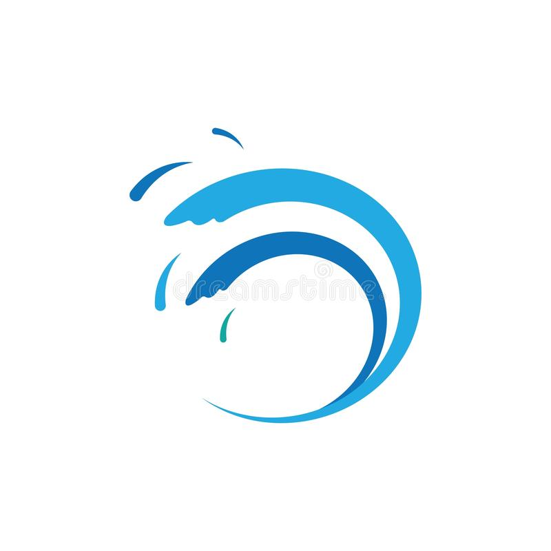 Water Wave symbol and icon Logo Template vector vector illustration