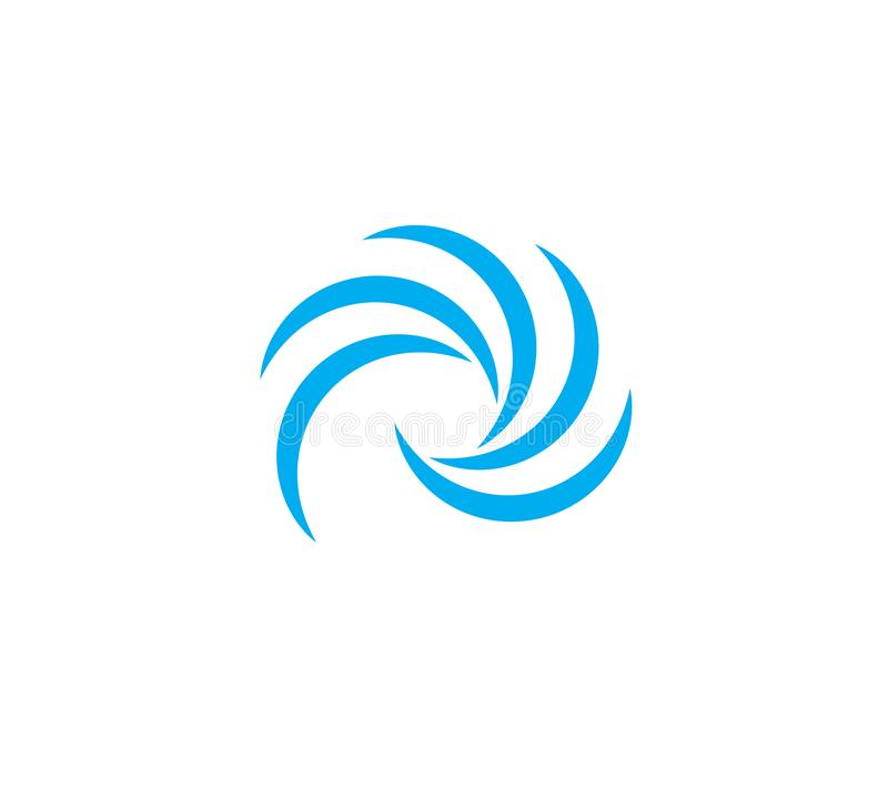 Water Wave symbol and icon Logo Template stock illustration