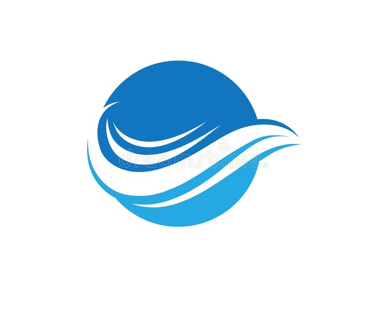 Water Wave symbol and icon Logo Template vectors vector illustration