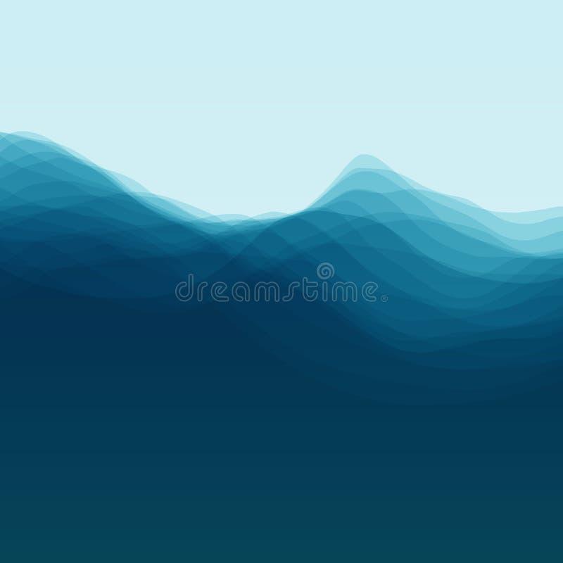 Water Wave. Vector Illustration For Your Design vector illustration