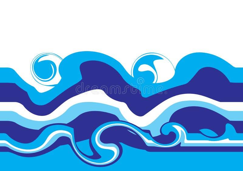 Water waves vector illustration