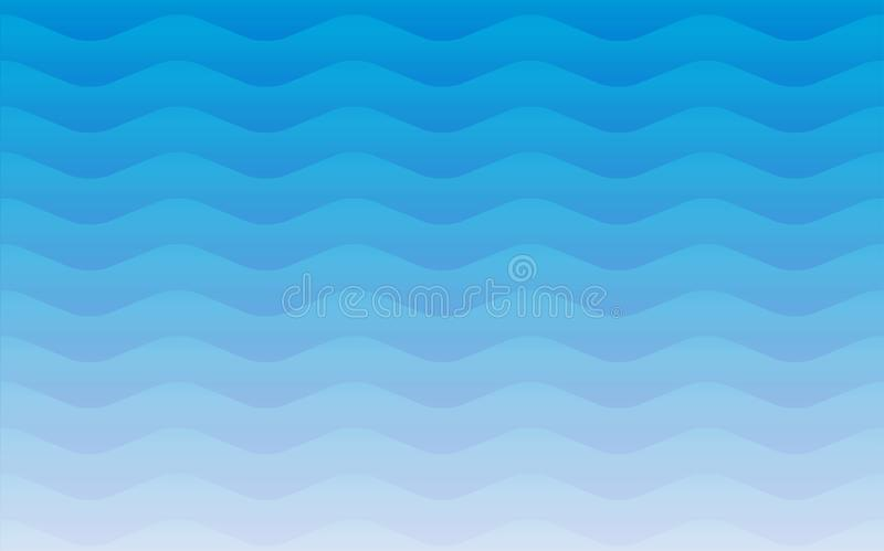 Water waves geometric seamless repetitive vector pattern texture. Blue water waves effect background vector graphic illustration. Abstract background pattern vector illustration