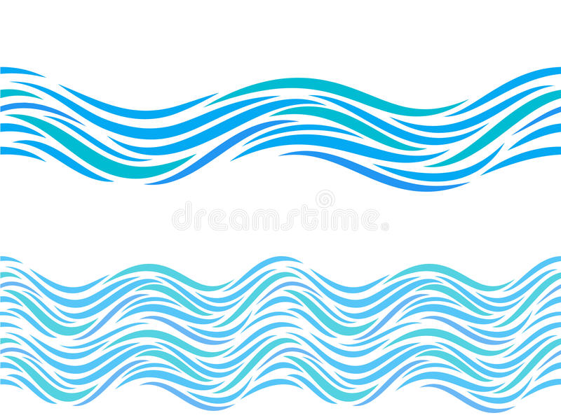 water waves vector seamless pattern or tattoo ornament stock vector rh dreamstime com wave vector k wave vector ill