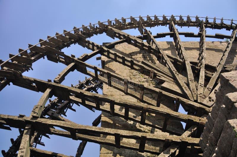 Water-wheel, Hama, Syria fotografia de stock