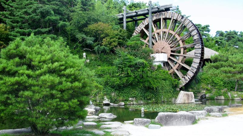 Water wheel. Hellenistic engineers invented the water wheel and were, along with the Romans, the first to use it for both irrigation and as a power source. The stock photography