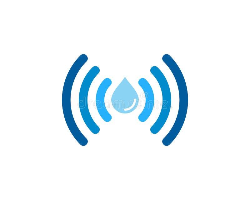 Water Wifi Icon Logo Design Element royalty free illustration